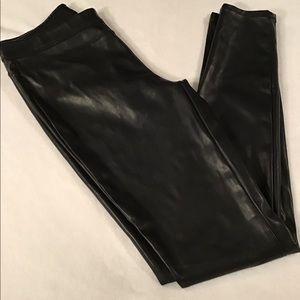 Faux Leather Black Pants
